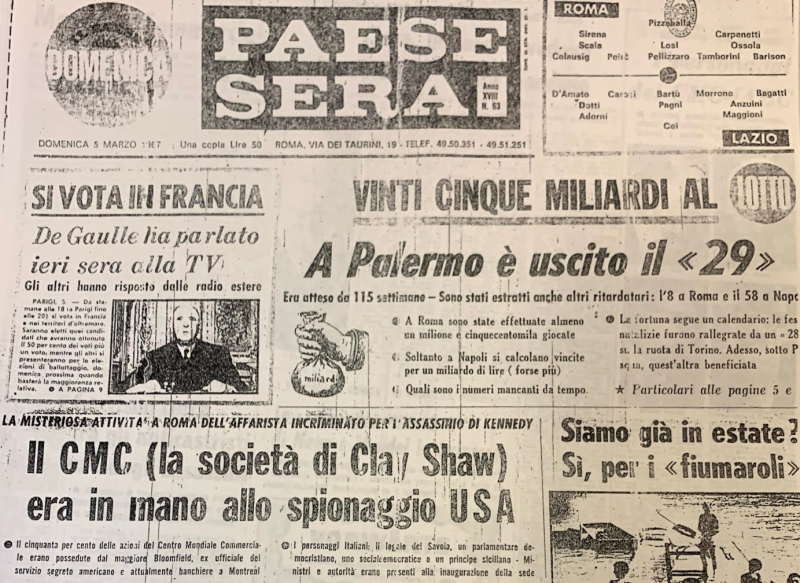 038. Paese Sera Issue march 5