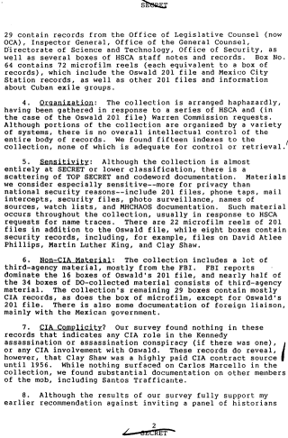 113. CIA document saying Shaw was a highly paid CIA contract source